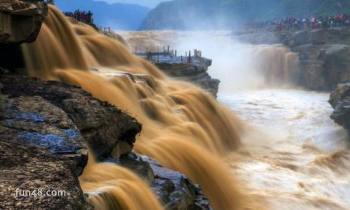 世界上最大的黄色瀑布 黄河壶口瀑布世界含沙量最大